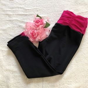 Under Armour Black and Pink Workout Pants Size XS